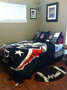 My Sons Room. #nfl #bedding For #boys #bedroom