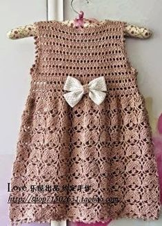 Receita de Crochê Infantil: Vestido de crochê INFANTIL u