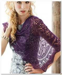 Irish crochet &: KNITTING SHAWL ... ШАЛЬ СПИЦЫ