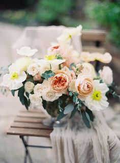 Bouquet in Shades of Peach   photography by http://www.michaelandcarina.com