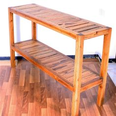 Teak Inlay Console Wood Table - VerdeLifestyles.com