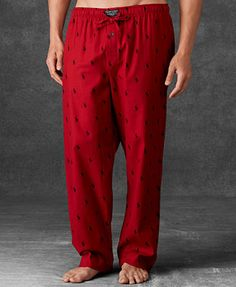 Just got these for Michael to wear Christmas Eve! Polo Ralph Lauren Men's  Allover Polo Player Woven Pajama Pants and got the matching top too !