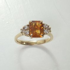 Hey, I found this really awesome Etsy listing at https://www.etsy.com/listing/194506524/14k-yellow-gold-citrine-ring-with