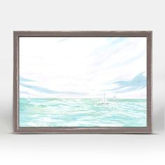 """""""Sailboats At Sea"""" Mini Framed Canvas from GreenBox Art + Culture. Size - 7''x5''. Rustic frame color is predetermined. We've got wall art for all ages and interests. Browse our entire collection of Mini Framed Canvas Wall Art for the home!"""