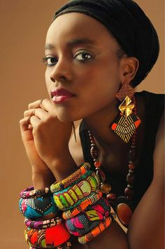 Ankara earrings and bangles