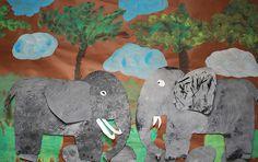 k or grade 1, Elephants by paintedpaper, via Flickr