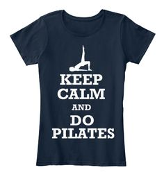 Keep Calm And Do Pilates Shirt Tank Top New Navy Women's T-Shirt.om Yoga Women's Graphic T-Shirt Tee tank top  Yoga t-shirt, heather gray t-shirt, women's t-shirt, gray tee, Yoga, Yoga shirt, Yoga tee, Yoga Clothing. Great Christmas or birthday gift for yoga lover, teacher and instructor.