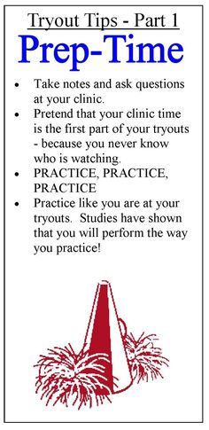 Are trying out for cheerleading? Check out more tips on CheerleadingInfoCenter.com