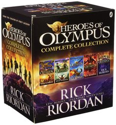 - Heroes of Olympus Complete Collection 5 Books Box Set. Titles in the Set: The Lost Hero, The Son of Neptune, The Mark of Athena, The House of Hades and The Blood of Olympus.