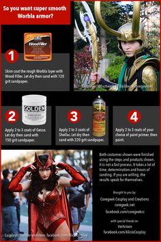 How To Get Super Smooth Worbla Armor – Cosplay – coregeek Loki Cosplay, Cosplay Diy, Halloween Cosplay, Best Cosplay, Awesome Cosplay, Yuna Cosplay, Rwby Cosplay, Cosplay Weapons, Halloween Ideas