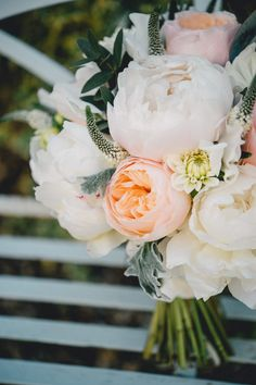 Juliet rose and peony bouquet