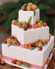"See the ""With Cherries on Top"" in our 29 Summer Wedding Cakes That We're Sweet On gallery"