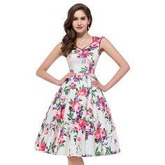 PAUL JONES Womens Flower Print Sleeveless V-Neck Vintage Dress Color A(XL) Paul Jones®Dress http://smile.amazon.com/dp/B00WWTZER6/ref=cm_sw_r_pi_dp_6ymqwb1QHRGY6