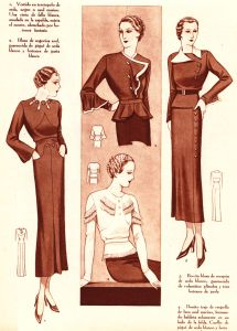 The wardrobe essentials of a single working woman in New York, 1937.  From http://www.halcyonva.com/working-wardrobe