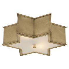 Natural Brass with Frosted Glass