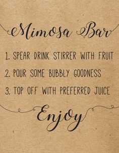 Do it yourself wedding signs must have wedding signs how to make bridal shower mimosa bar sign diy mimosa bar sign mimosa bar juice signs solutioingenieria Image collections