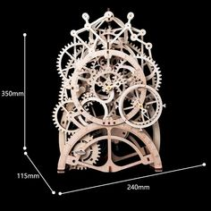 Robotime Assembly Puzzles Wooden Mechanical Gears Decor Laser-Cut Pendulum Clock Model Kit Best Engineering Toys for Teens Puzzles 3d, Wooden Puzzles, Engineering Toys, Mechanical Gears, Pendulum Clock, Model Building Kits, Model Kits, Birch Ply, Laser Cut Wood