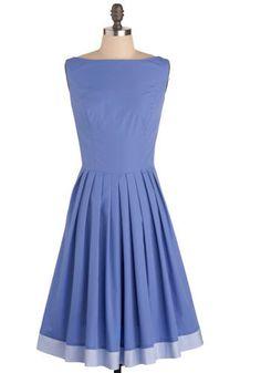 love this periwinkle dress Retro Vintage Dresses, Vintage Inspired Dresses, Mod Dress, Dress Up, Blue Dresses, Dresses For Work, Pleated Dresses, Pleated Skirt, Periwinkle Dress