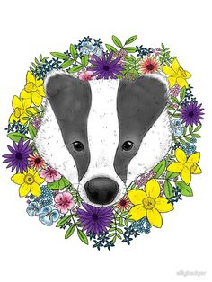 Spring Badger by sillybadger aka Siobhan Beer of Silly Badger Designs