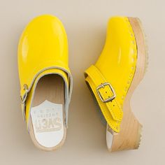 Yellow clogs
