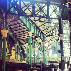 The historic market roof. Borough Market.