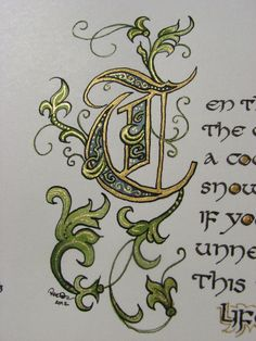 Illuminated Calligraphy Made To Order Commission от angelworx