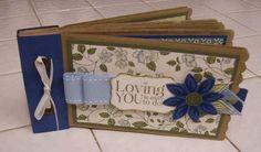 Blue Mini Lunch Sack Scrapbook Album