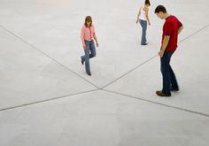 uvre:  Square Depression,Bruce Nauman, 2007.
