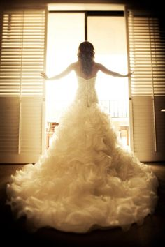 Paige's Dennis Basso Bridal gown from Kleinfeld's