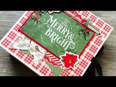 Christmas Mini Albums, Christmas Minis, Mini Album Tutorial, Country Crafts, Card Stock, December, Card Making, The Creator, Merry