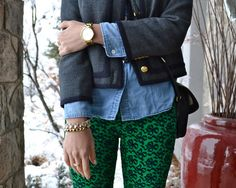 """These printed pants are life changing! Learn other ways you can make your wardrobe a little more daring. """"6 Extras You Just Can't Live Without"""" #FashionFriday"""