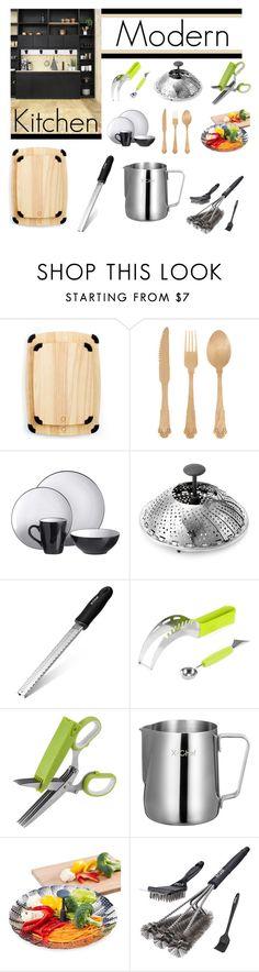 Modern Kitchen by ioakleaf on Polyvore featuring interior, interiors, interior design, home, home decor, interior decorating, Martha Stewart, Seletti, kitchen and modern