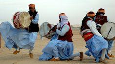 Tunisian Nganga Drummers.North Africa.