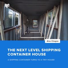 Ever wanted to leave in a shipping container house? Here's a video of how to build one. Have you ever imagined a house designed like a shipping container? Well you don't need to imagine it because there is a residential house made from eight Shipping Container Home Designs, Shipping Container House Plans, Shipping Containers, Container Home Plans, Shipping Container Interior, Shipping Container Buildings, Building A Container Home, Storage Container Homes, Tiny Container House