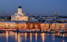 I got this shot from the ship, during my cruise trip to Helsinki. Their cathedral towers proudly over the city. Lovely reflections in the ice, for which I paid with getting painstakingly cold hands. Travel Around The World, Around The Worlds, Finland Travel, Places In Europe, Cruise Travel, Wanderlust Travel, Wanderlust Quotes, Helsinki, City Photo