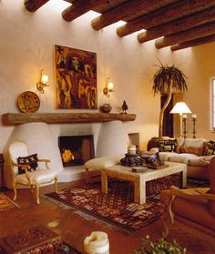 I Love The Wood Poles Coming Out Of The Walls For The Ceiling. Love The. Southwest  DecorSouthwest ...