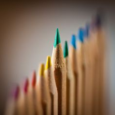This photo shows emphasis. The pencil in the picture with the most focus on it is the focal point of the picture. It is the part that your wye is immediately drawn too.