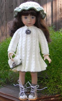 "Knit Dress and Hat For Dianna Effner Little Darling 13"" #DiannaEffner"