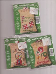 Stitch N Stuff Christmas Designs Lot of 3 Counted Cross Stitch Kits NeedleMagic  #NeedleMagicInc #Ornaments