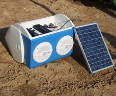 This instructable outlines a portable solar charging station, stereo, and LED light that is built into a playmate cooler. It is an all-in-one portable...