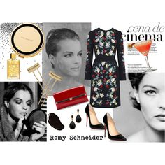Iconic Divas: Romy Schneider by romaosorno on Polyvore featuring moda, Erdem, Christian Louboutin, Diane Von Furstenberg, Kenneth Jay Lane, Aesa, Yves Saint Laurent, Kate Spade and CENA
