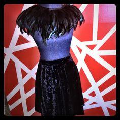 Velvet mini skater skirt Velvet mini skater skirt brand new Forever 21 Skirts Circle & Skater