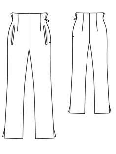 high waist trouser burda style