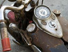 Old Harley Davidson Motorcycle