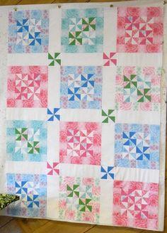 pastel pinwheel quilt