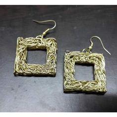 metal filigree earrings
