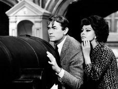 Sophia Loren with Gregory Peck