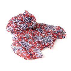 PAREO SCIARPA GILBOA  -  Grazioso pareo - sciarpa in vaporoso e soffice chiffon stampato,100% poliestere.  Dimensioni: cm 110x150