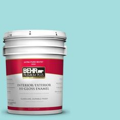 BEHR Premium Plus 5-gal. #500A-3 Aqua Spray Hi-Gloss Enamel Interior/Exterior Paint-805005 at The Home Depot COLOR
