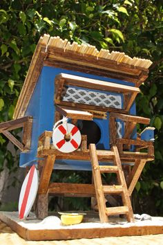 BEACH  BIRDHOUSE  Beach Hut by rdsoifer on Etsy, $195.00